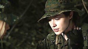 Pornstars in military uniform get wild in hot hardcore group sex